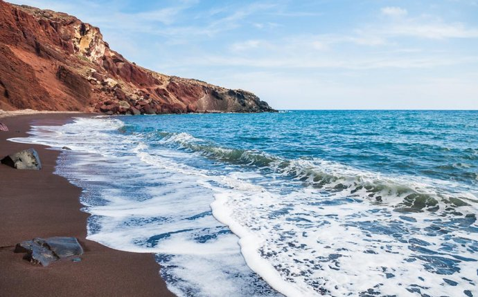 Santorini Sea Greece Beach