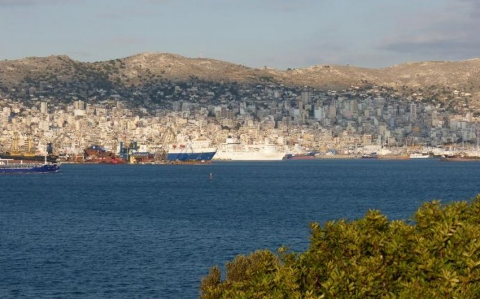 The island of Salamis or Salamina near Piraeus in Greece