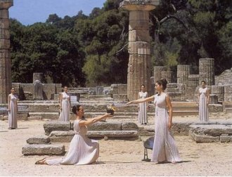 Ancient Olympia, kindling the Olympic flame. Photo © GNTO - USA