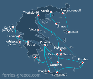 Ferries and Boats to Symi island Dodecanese greek islands Greece
