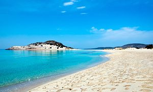 Simos beach on Elafonissos, Greece
