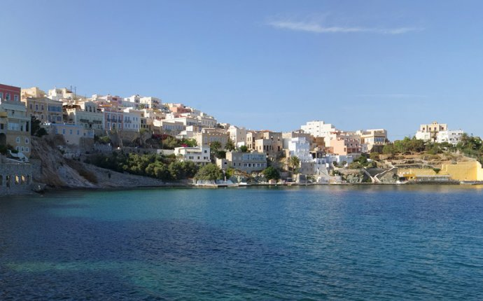 Syros Island Greece Map